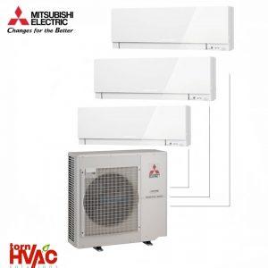 Aer conditionat Mitsubishi Electric Multisplit MXZ-5E102VA+3xMSZ-EF35VEW (3x12000 BTU) Kirigamine Zen Alb