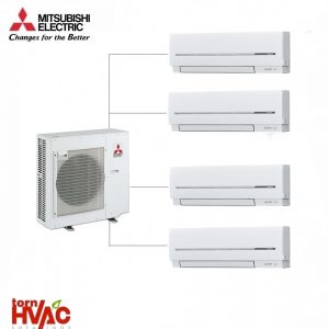 Aer conditionat Mitsubishi Electric Multisplit MXZ-5E102VA+3xMSZ-SF25VE+MSZ-SF35VE (3x9000 BTU+1x12000 BTU)