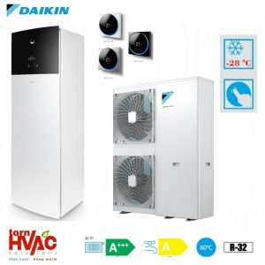 Pompa de caldura aer-apa Daikin Altherma 3 EAVX16S18D6V+EPGA16DV 16 kW hydrotank Alb R32 -28 grade Celsius