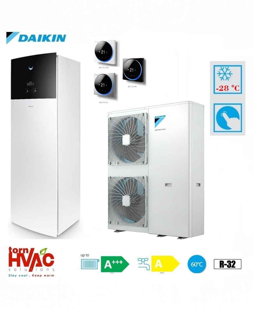 Pompa de caldura aer-apa Daikin Altherma 3 EAVX16S18D9W+EPGA16DV 16 kW hydrotank Alb R32 -28 grade Celsius
