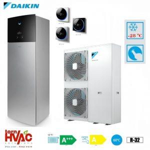 Pompa de caldura aer-apa Daikin Altherma 3 EAVX16S23D6VG+EPGA14DV 14 kW hydrotank Gri argintiu R32 -28 grade Celsius