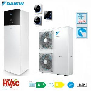 Pompa de caldura aer-apa Daikin Altherma 3 EAVX16S23D9W+EPGA16DV 16 kW hydrotank Alb R32 -28 grade Celsius