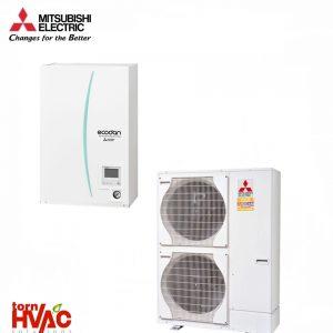 Pompa de caldura tip hydrobox Mitsubishi Electric Zubadan ERSE-YM9EC+PUHZ-SHW230YKA