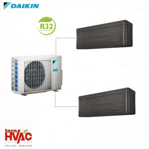 Aer conditionat Daikin Multisplit Stylish 2MXM50M9+2xFTXA25BT (2x9000 BTU) R32 Negru
