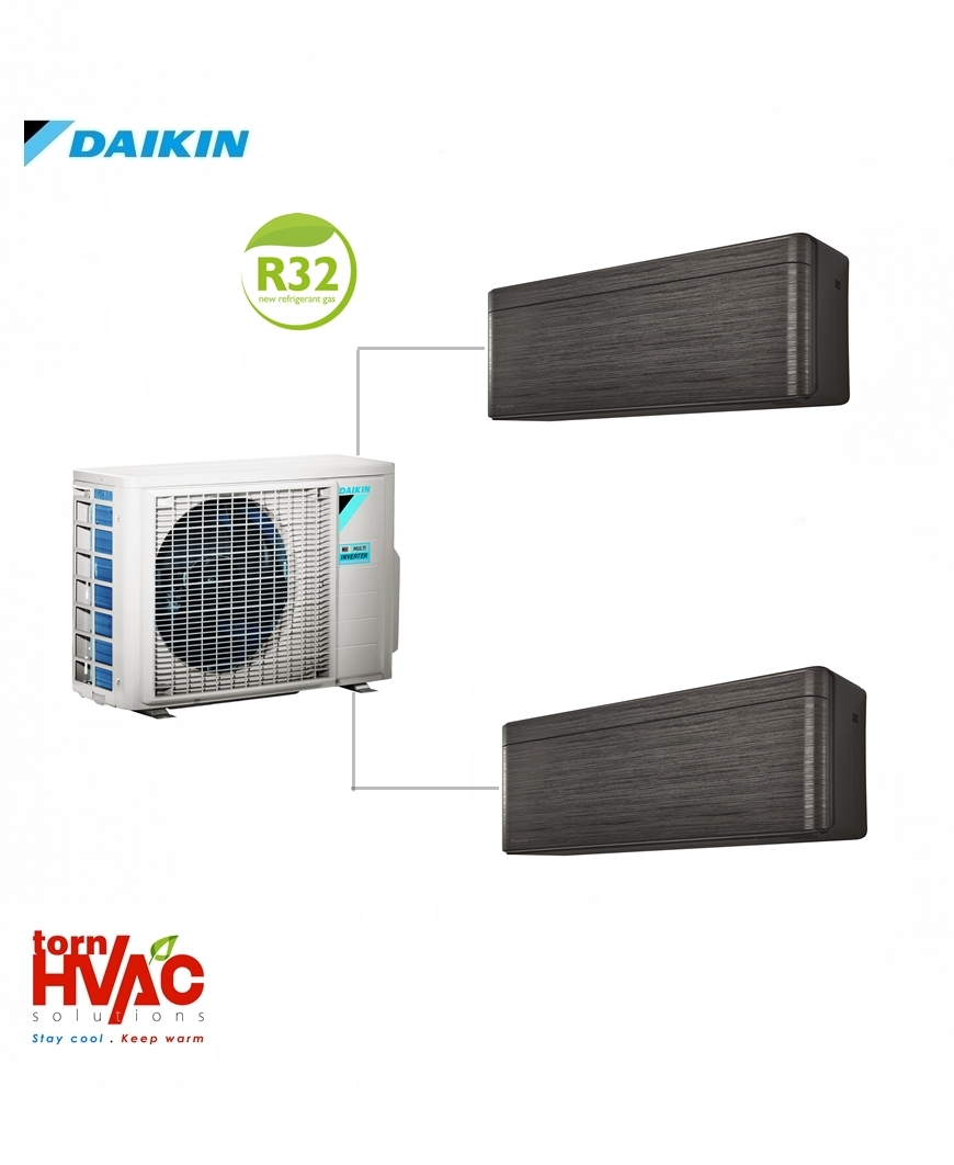 Aer conditionat Daikin Multisplit Stylish 2MXM50M9+2xFTXA25BT (2x9000 BTU) R32 Negru