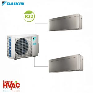 Aer conditionat Daikin Multisplit Stylish 2MXM50M9+2xFTXA25AS (2×9000 BTU) R32 Argintiu cu negru