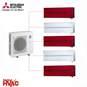 Aer conditionat Mitsubishi Electric Multisplit MXZ-5E102VA+5xMSZ-LN25VGR/V
