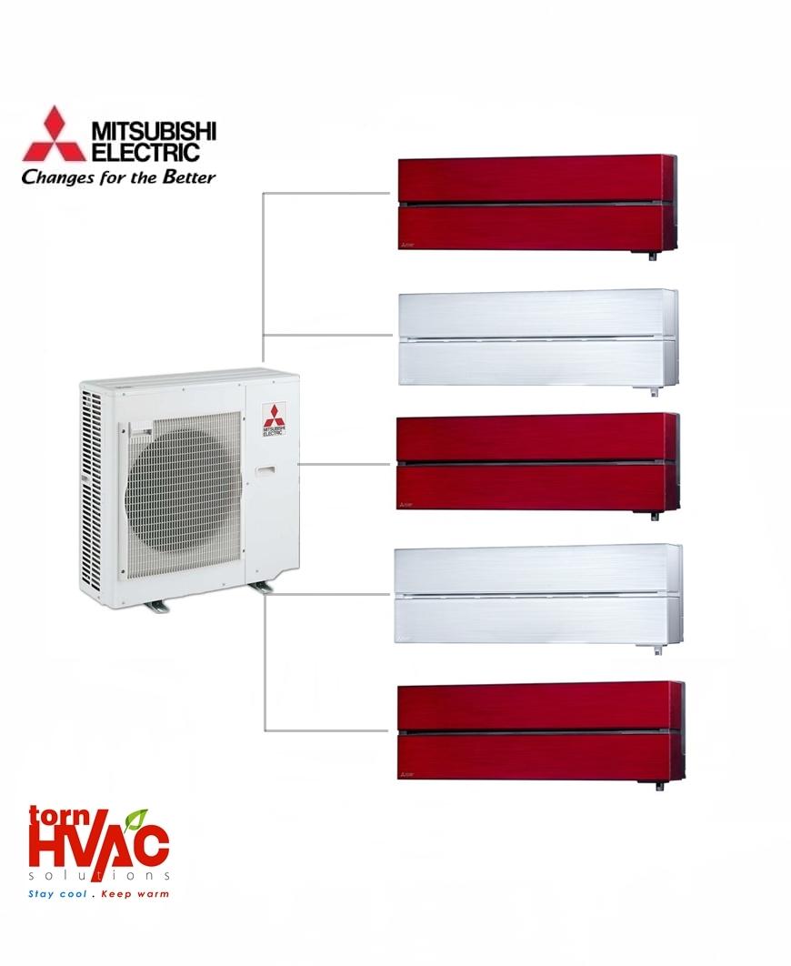Aer conditionat Mitsubishi Electric Multisplit MXZ-5E102VA+5xMSZ-LN25VGR/V