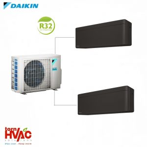 Aer conditionat Daikin Multisplit Stylish 2MXM50M9+2xFTXA25BB (2x9000 BTU) R32 Negru mat