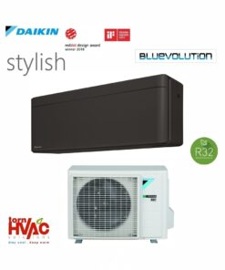 Aer conditionat Daikin Stylish inverter FTXA25BB+RXA25A 9000 BTU Negru mat R32
