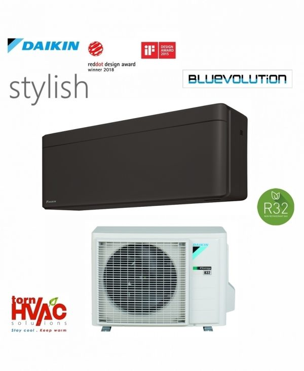 Aer conditionat Daikin Stylish inverter FTXA35BB+RXA35A 12000 BTU Negru mat R32