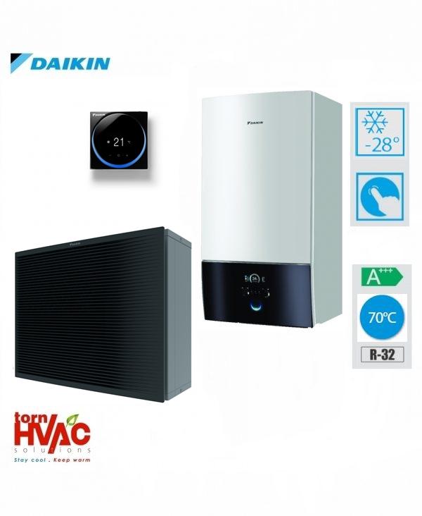 Pompa de caldura aer-apa Daikin Altherma3 HHT doar incalzire ETBH16D6V+EPRA16DV3 16 Kw-sistem hydrobox (monofazata)