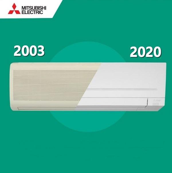 Inca mai ai aerul conditionat din 2003? Mitsubishi Electric iti ofera, astazi, aparate mult mai eficiente din punct de vedere energetic.